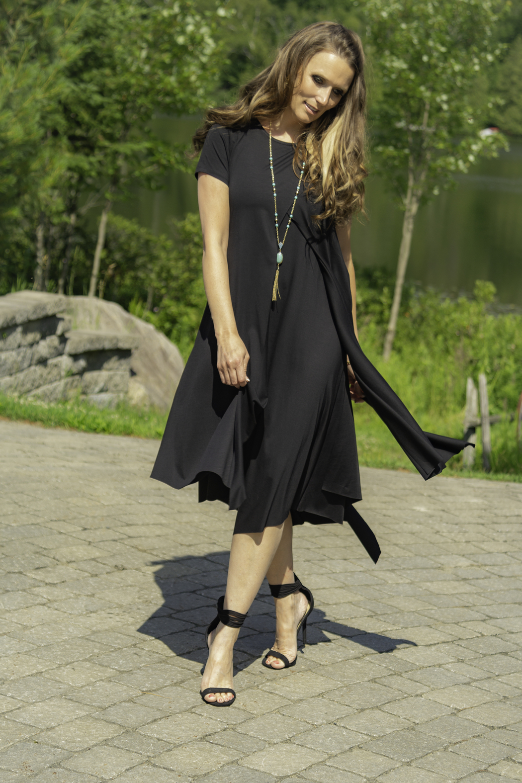 Pure Essence Layered Cotton Dress - Main Image
