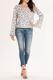 Miss Me Layered Criss-Cross Blouse - Product Mini Image