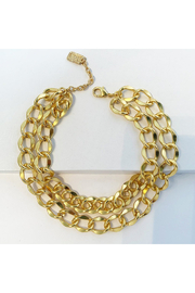 Karine Sultan LAYERED CURB LINK NECKLACE - Product Mini Image