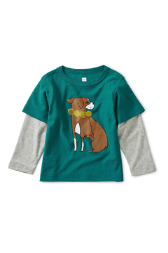 Tea Collection Layered Dog Baby Graphic Tee - Alternate List Image