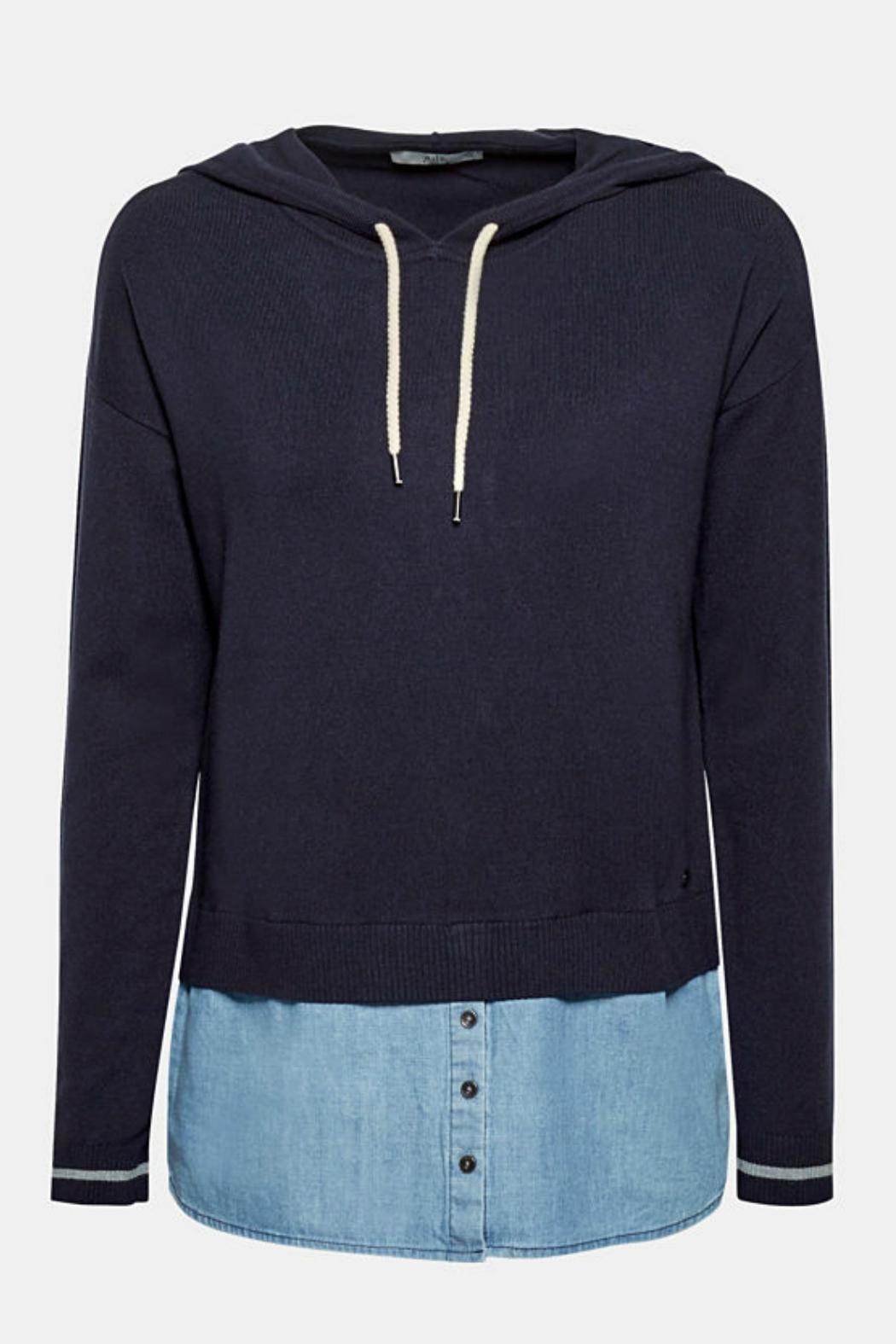 Esprit Layered Effect Hoodie - Back Cropped Image