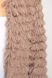 She + Sky Layered Faux Fur Jacket - Side cropped