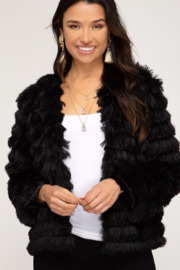 She + Sky Layered Faux Fur Jacket - Product Mini Image