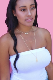 Minx Layered Feather Necklace - Product Mini Image