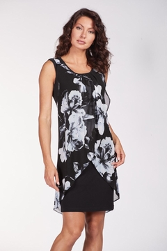 Frank Lyman Layered Floral Dress - Product List Image
