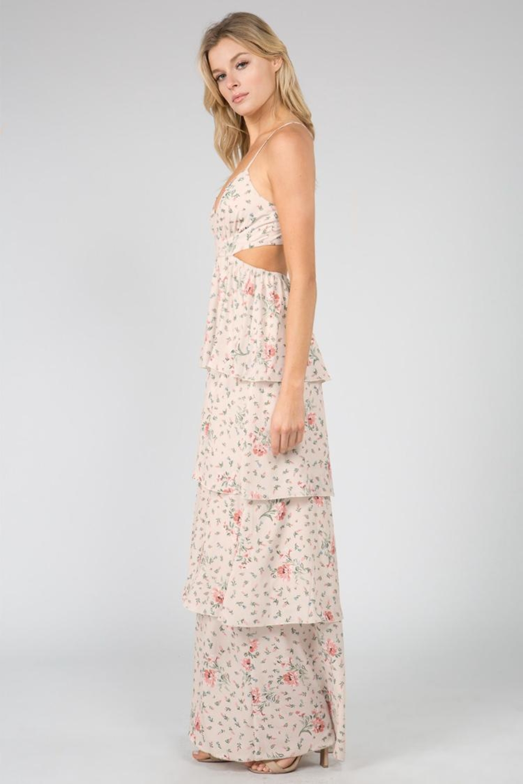 FANCO Layered Floral Maxi - Side Cropped Image