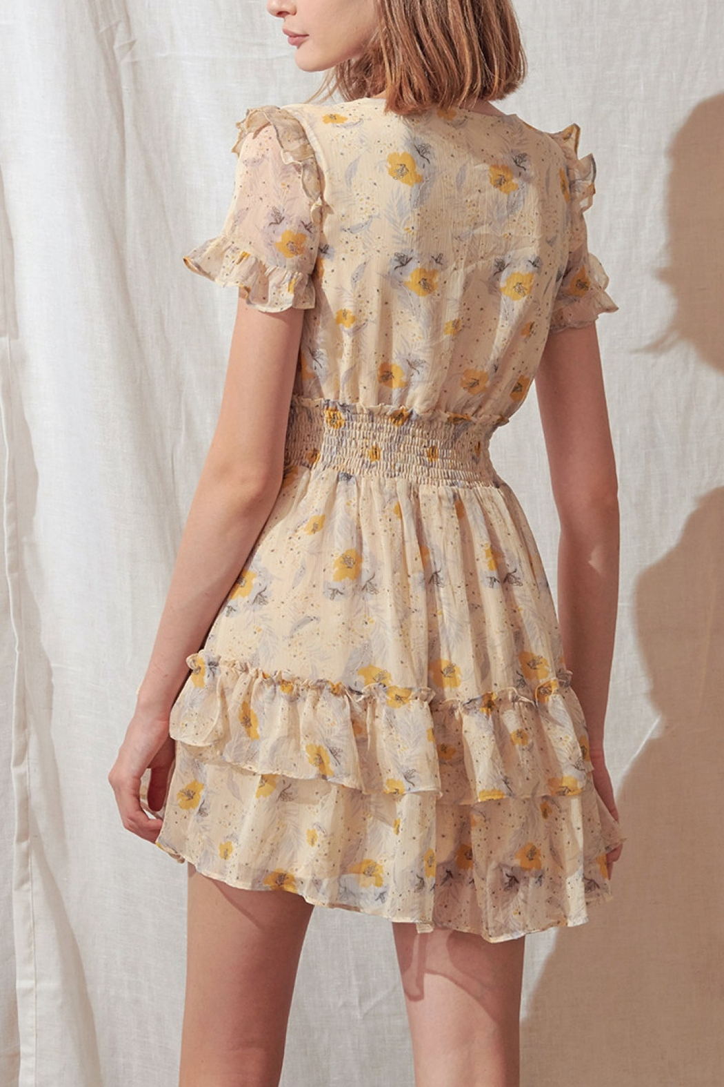 storia Layered Floral Mini-Dress - Front Full Image
