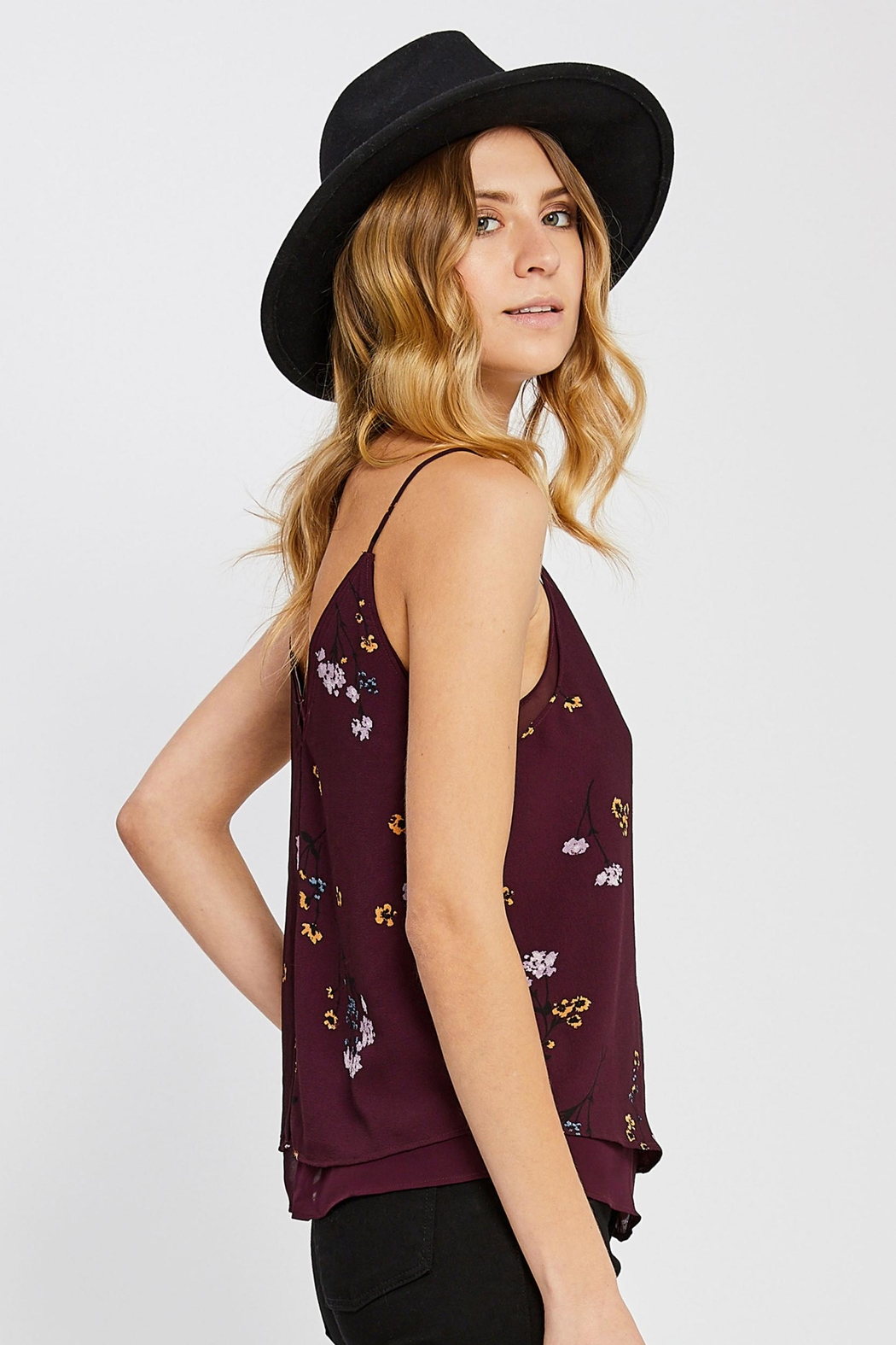 Gentle Fawn Layered Floral Tank - Front Full Image