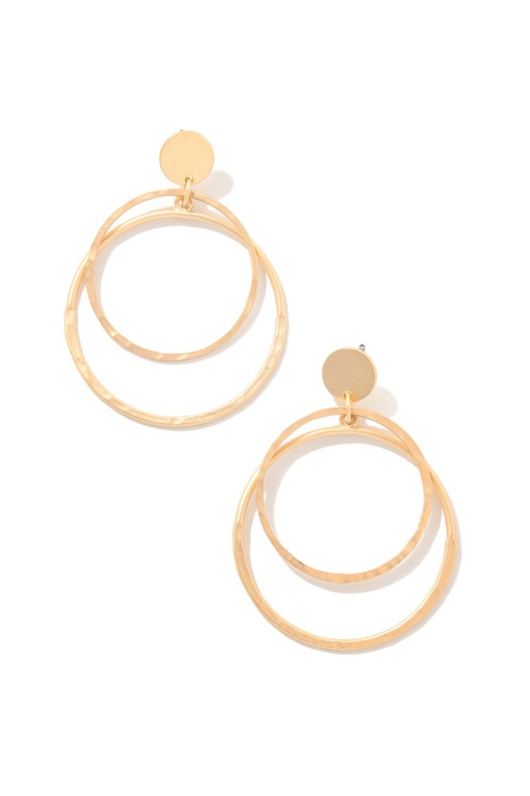 Anarchy Street Layered Hoop Drop Earring - Front Cropped Image
