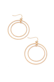 Anarchy Street Layered Hoop Drop Earrings - Front cropped