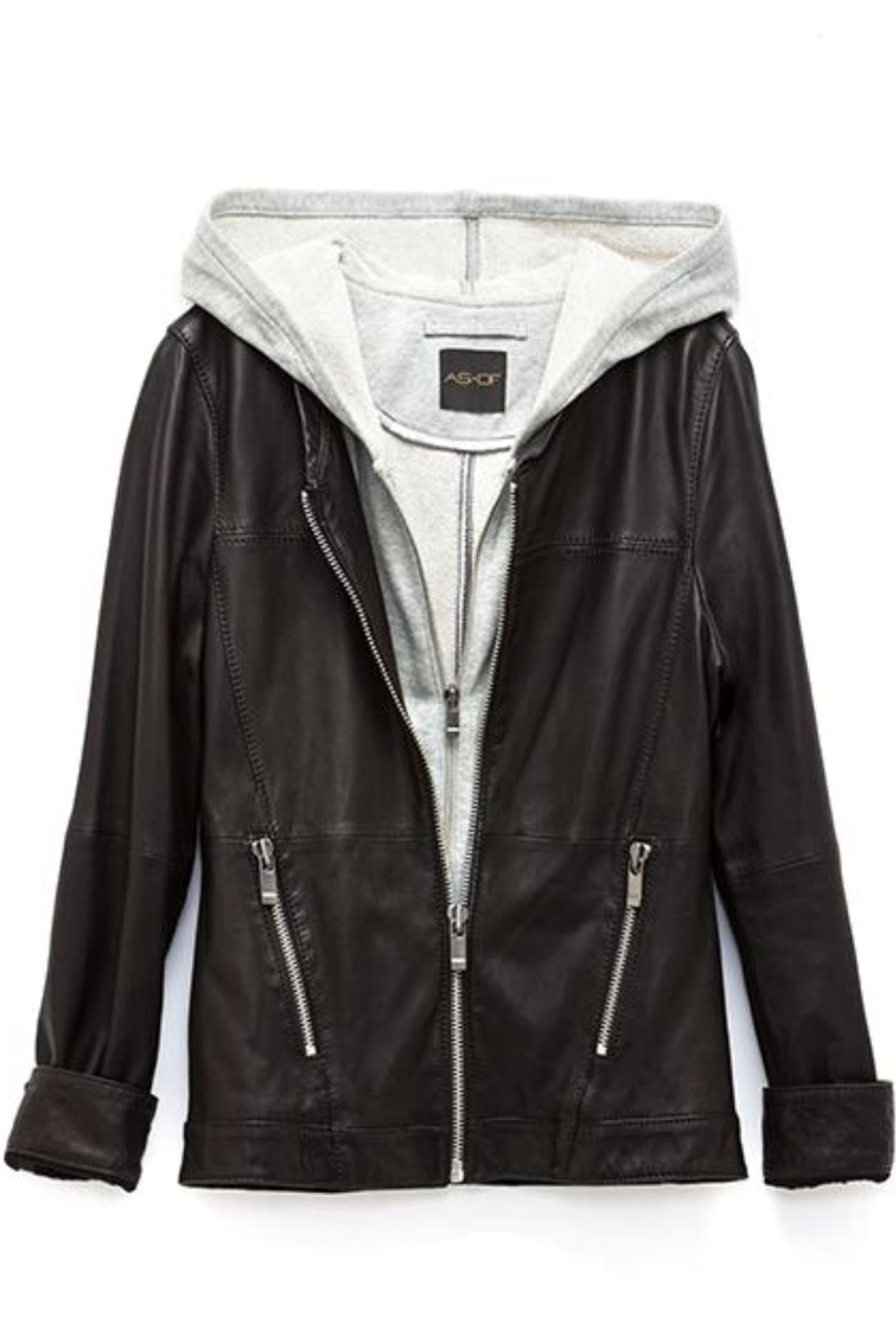 AS by DF Layered Leather Jacket - Side Cropped Image