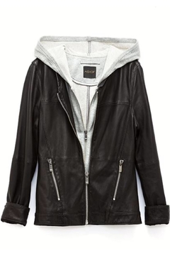 AS by DF Layered Leather Jacket - Alternate List Image