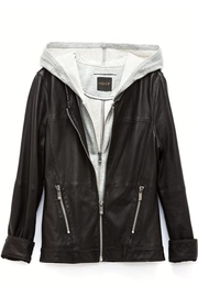 AS by DF Layered Leather Jacket - Side cropped