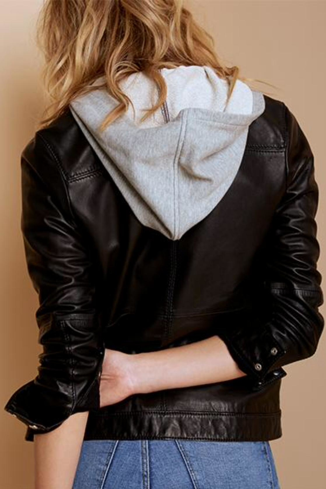 AS by DF Layered Leather Jacket - Front Full Image
