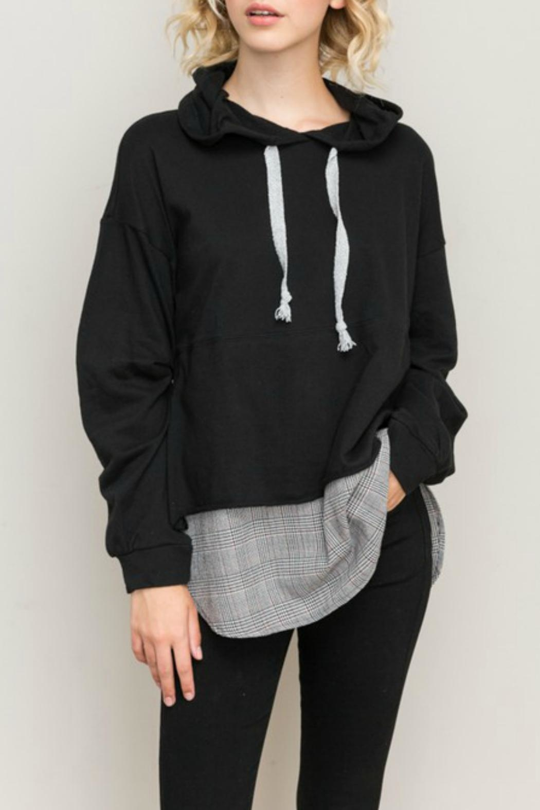 acc5455f489de Hem   Thread Layered Look Hoodie from Tennessee by Terri Leigh s ...