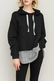 Hem & Thread Layered Look Hoodie - Product Mini Image