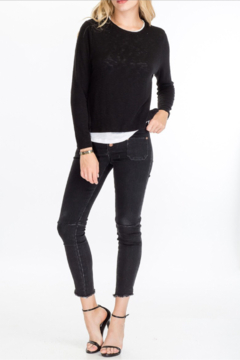Olivaceous  Layered look Sweater - Alternate List Image