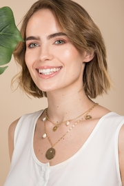 Saachi Layered Medallion Necklace - Side cropped
