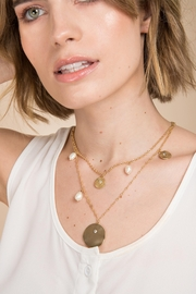 Saachi Layered Medallion Necklace - Product Mini Image