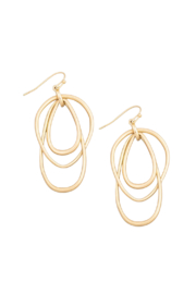 Fame Accessories Layered Open Teardrop Earrings - Product Mini Image