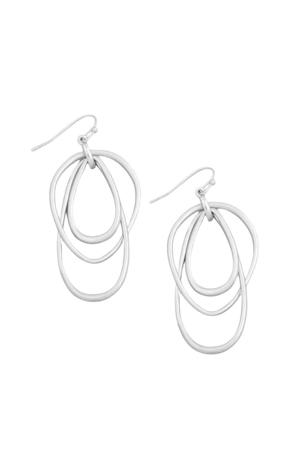 Fame Accessories Layered Open Teardrop Earrings - Front Cropped Image