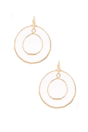 Art Box Layered Ring Drop Earrings - Product Mini Image