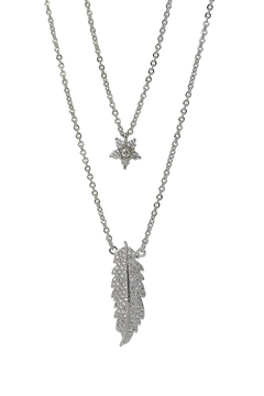 Shoptiques Product: Layered Rodhium Necklace