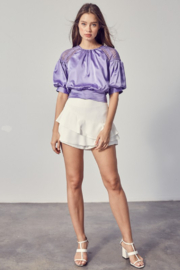 Do + Be  Layered Ruffle Mini Skirt - Front cropped