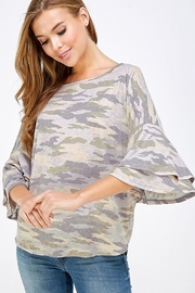 Yahada Layered Ruffle Sleeve Dolman Top - Front cropped