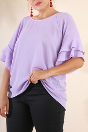 Umgee USA Layered Ruffle Sleeve - Product Mini Image