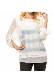 Adore Layered Sheer Silky Overlay Top - Product Mini Image