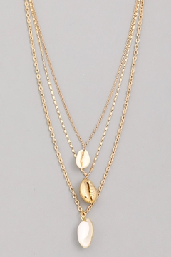 Wild Lilies Jewelry  Layered Shell Necklace - Alternate List Image