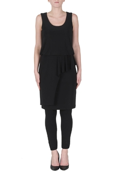 Shoptiques Product: Layered Silky Knit Dress, Black