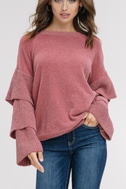 Listicle Layered-Sleeves Pullover Sweater - Product Mini Image