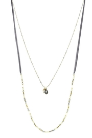 US Jewelry House Layered Suede Necklace - Front cropped