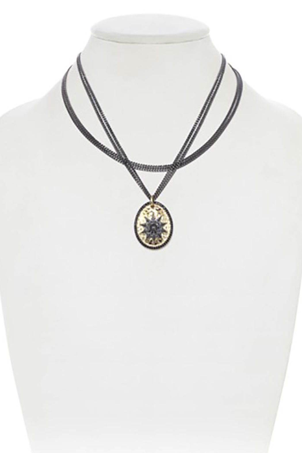 Lets Accessorize Layered Sun Necklace - Main Image