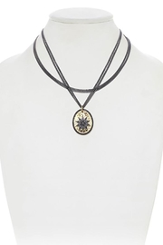 Lets Accessorize Layered Sun Necklace - Front cropped