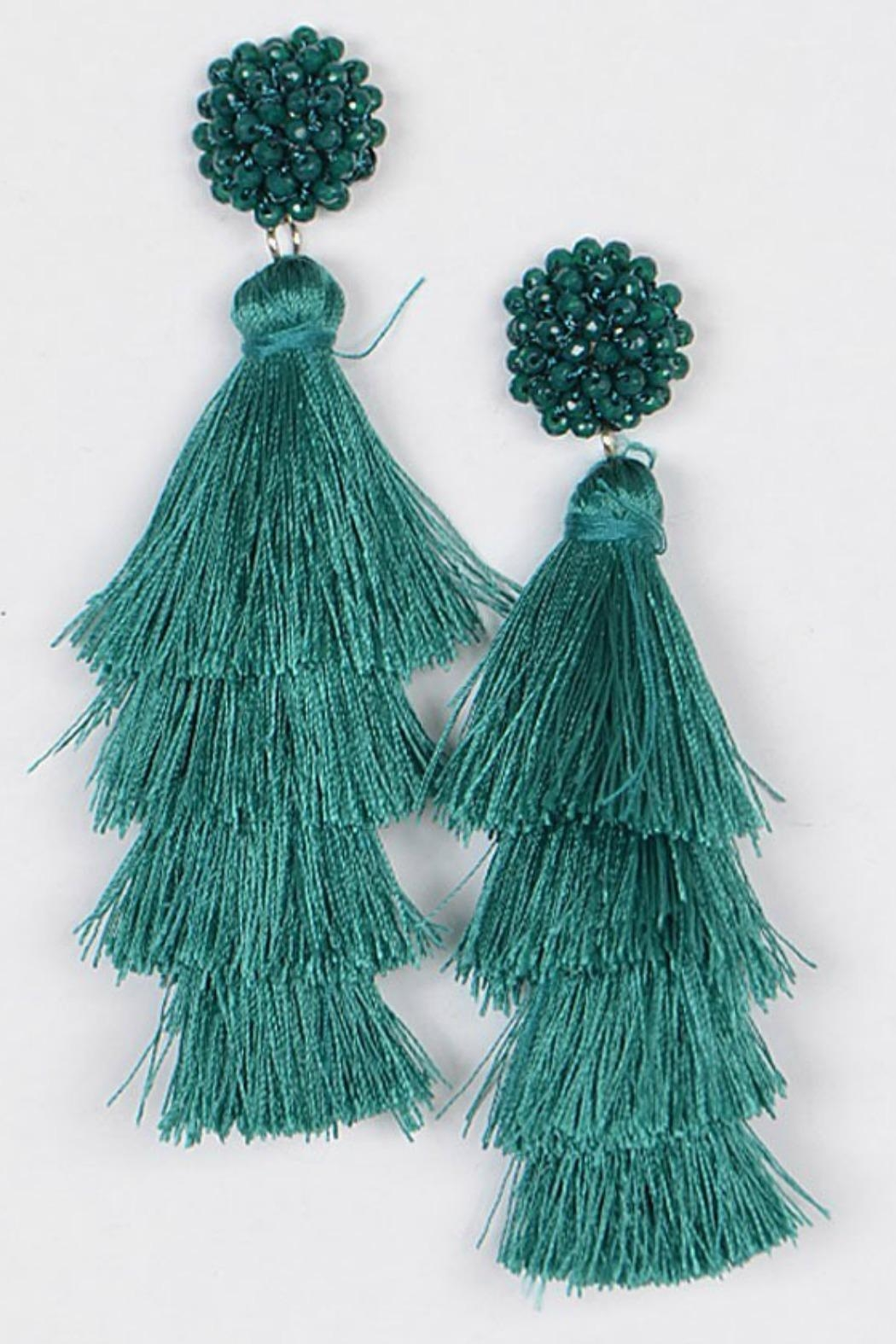 Bag Boutique Layered Tassel Earrings - Main Image