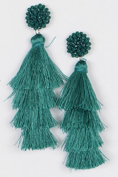 Bag Boutique Layered Tassel Earrings - Product List Image