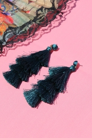 Minx Layered Tassel Earrings - Product Mini Image