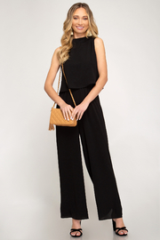 She + Sky Layered Top Jumpsuit - Front cropped