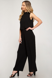 She + Sky Layered Top Jumpsuit - Front full body