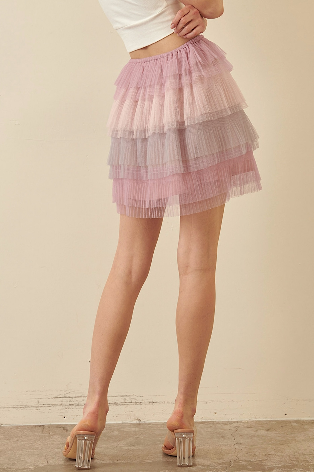 storia Layered Tulle Skirt - Side Cropped Image