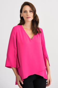 Joseph Ribkoff USA Inc. Layered V-Neck Hi Lo Blouse - Product List Image
