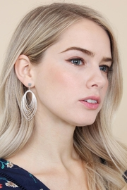 Riah Fashion Layered-Wire Petal Earrings - Front full body