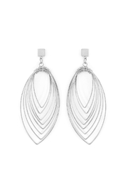 Riah Fashion Layered-Wire Petal Earrings - Front cropped