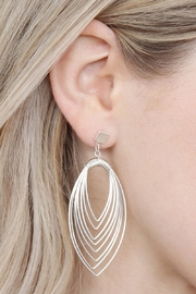 Riah Fashion Layered-Wire Petal Earrings - Side cropped