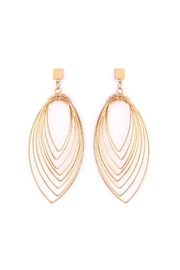 Riah Fashion Layered-Wire Petal Earrings - Product Mini Image