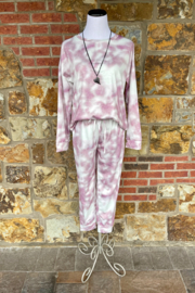 Esley Collection Laying Low Tie Dye Lounge Set - Product Mini Image