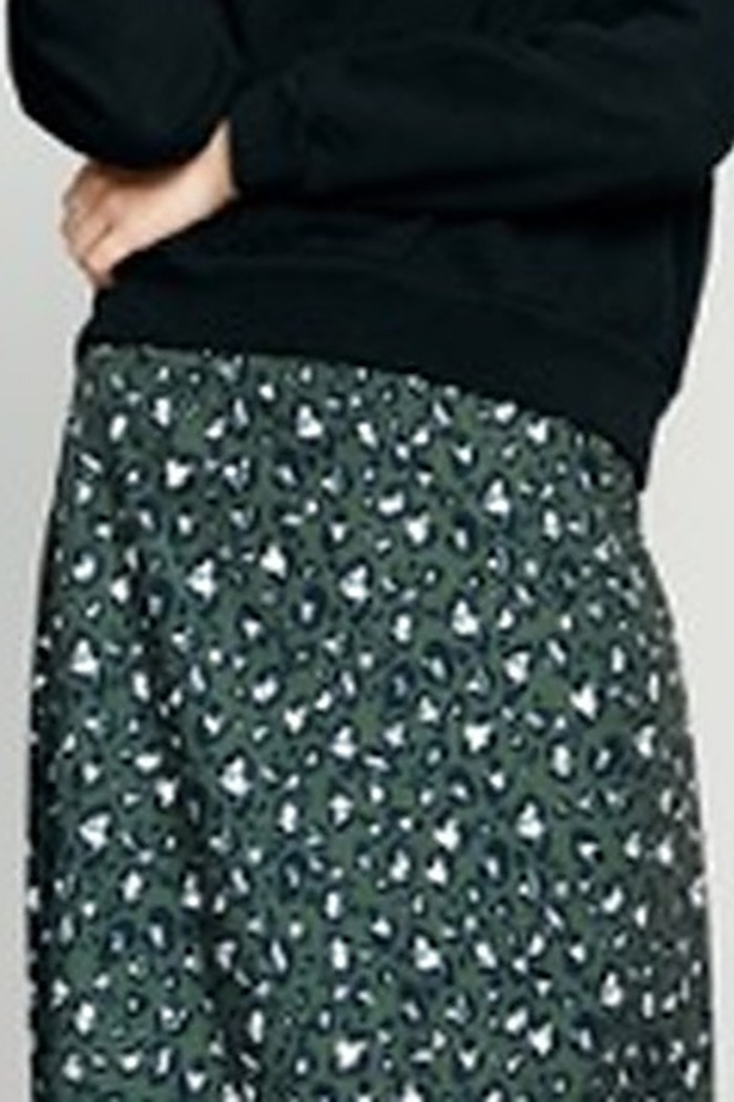 The Good Jane Layla Pleated Midi Skirt - Front Full Image